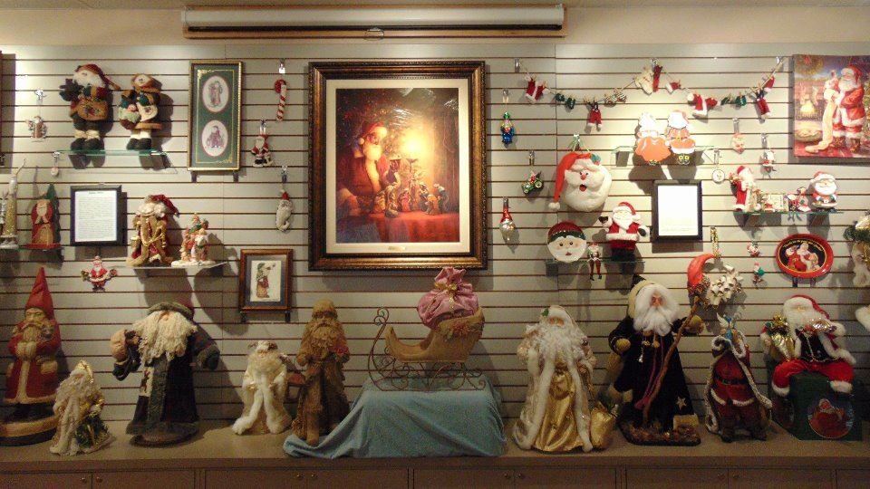 seasonal exhibit featuring over 50 different Santas