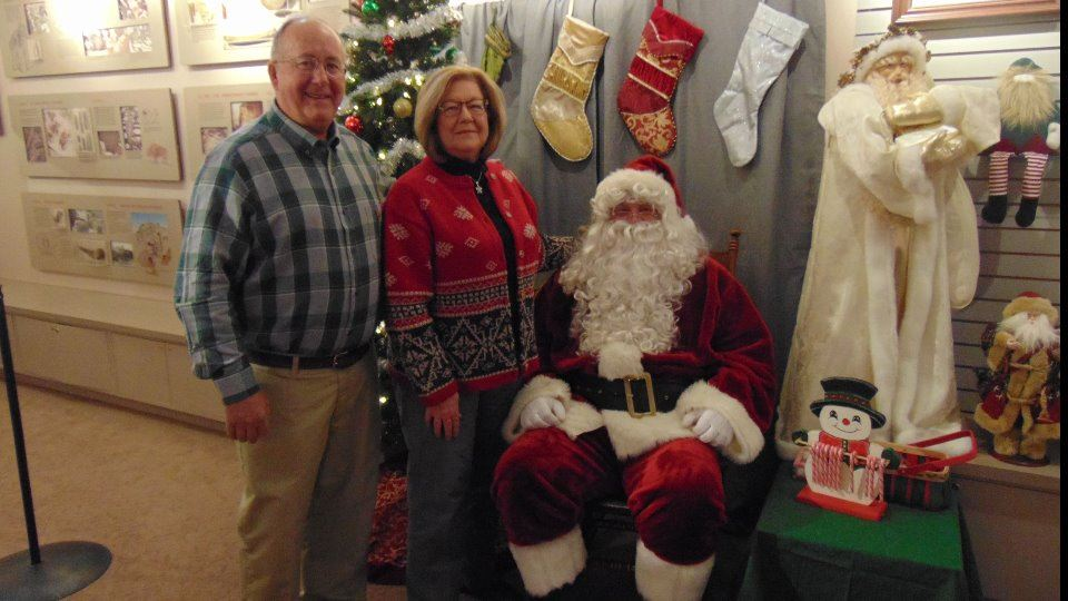 Holiday Open House Steve and Ann Brethauer with Santa