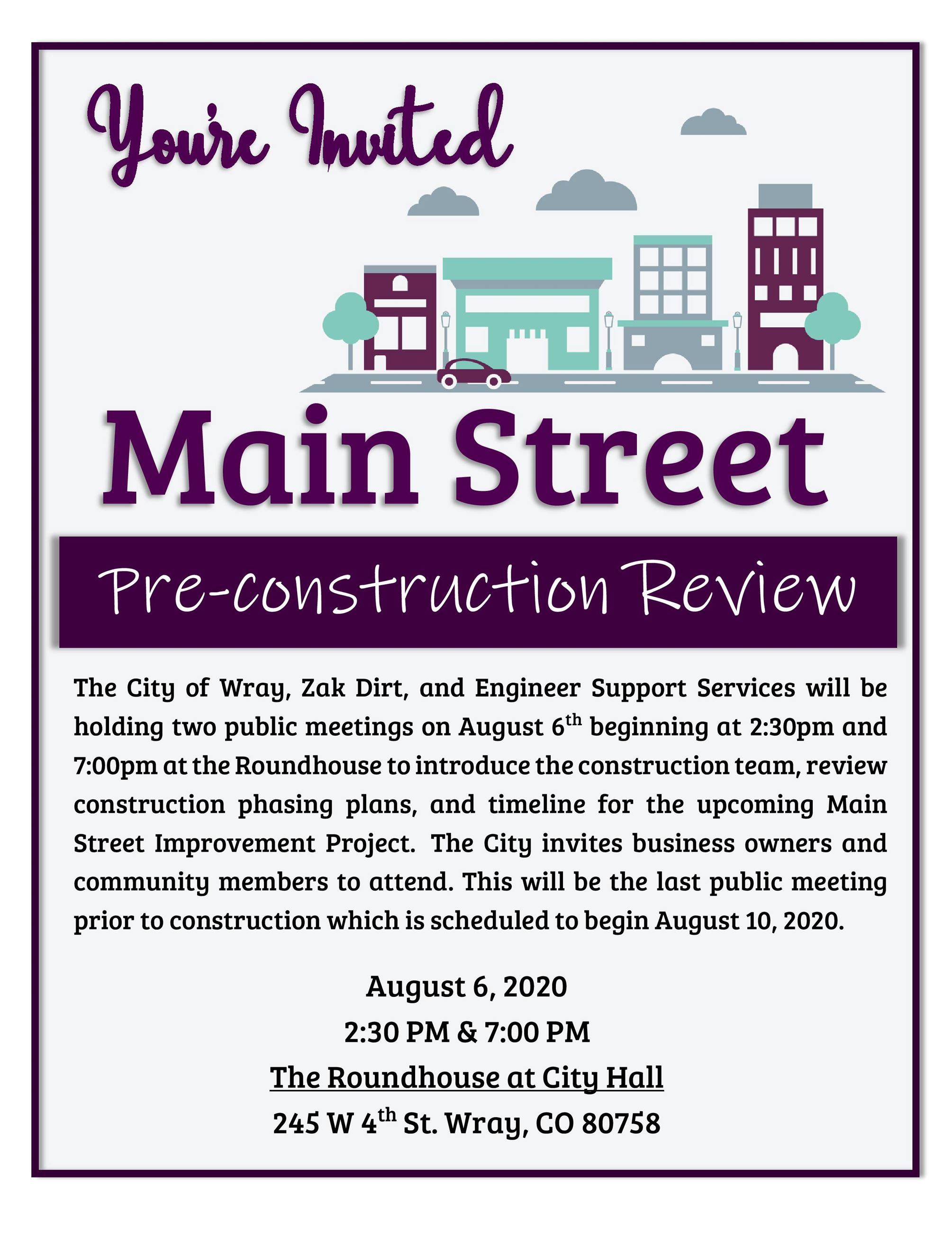 Main Street_Pre Constrcution Review Invite